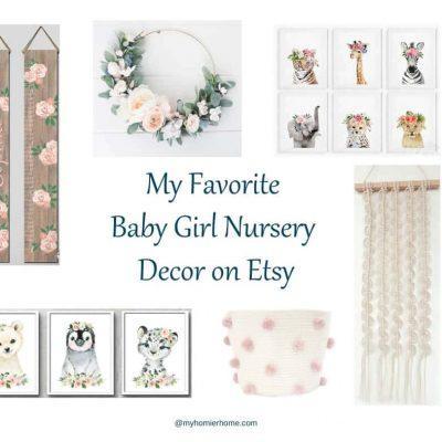 My Favorite Baby Girl Nursery Decor Finds on Etsy