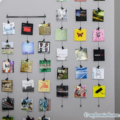 Simple and Inexpensive Way to Display CD Covers as Wall Art