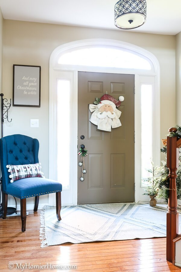 Front door on the Christmas Home Tour