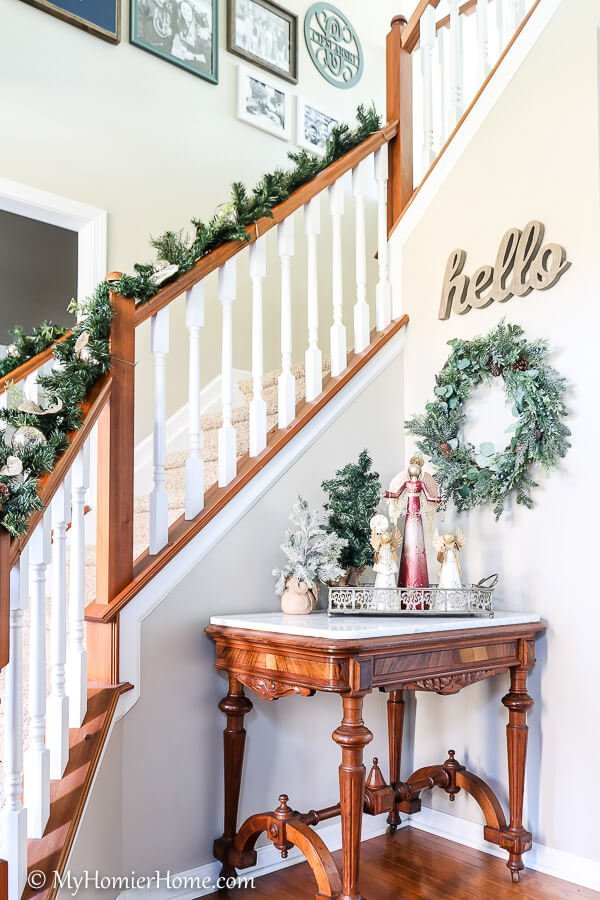 entry way of our Christmas home tour
