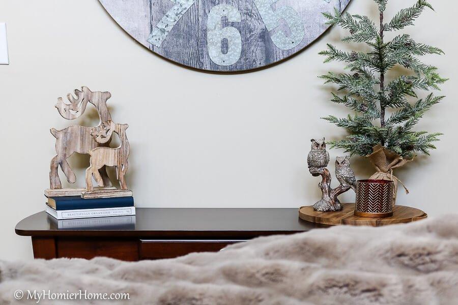 reindeer decor living room christmas home tour