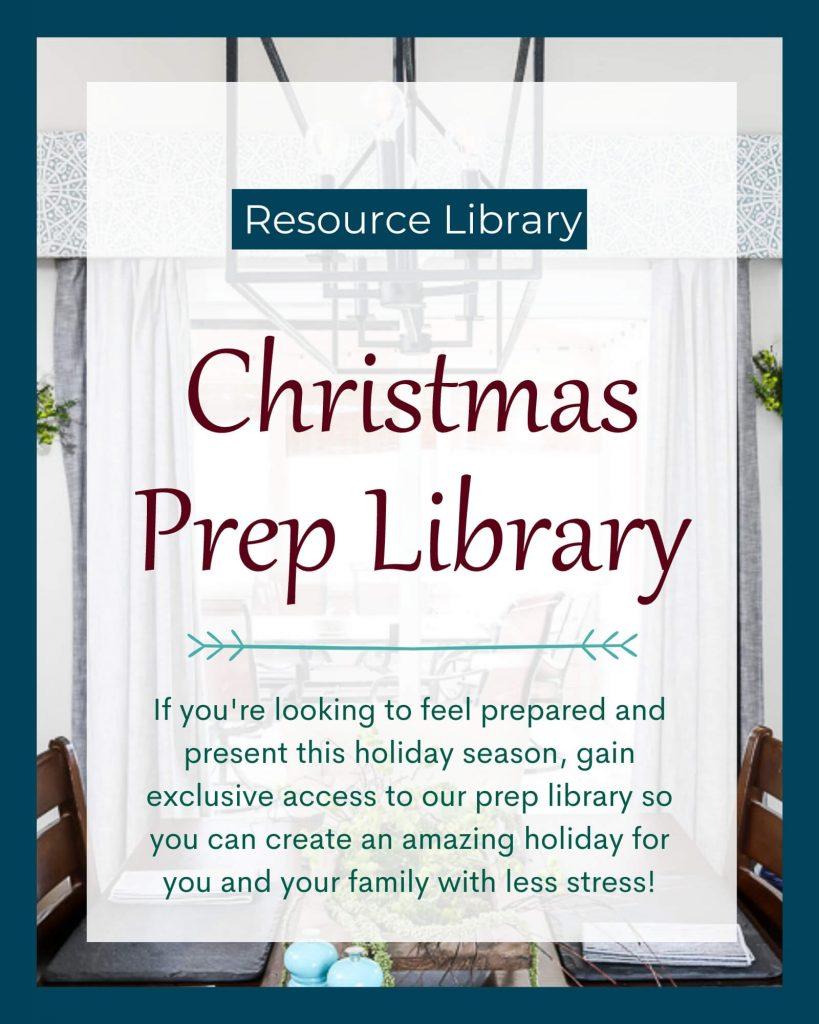 Christmas Prep Library 2