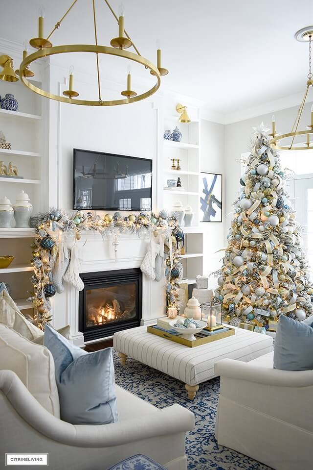 Citrine Living - Christmas Color Schemes Blue and White copy