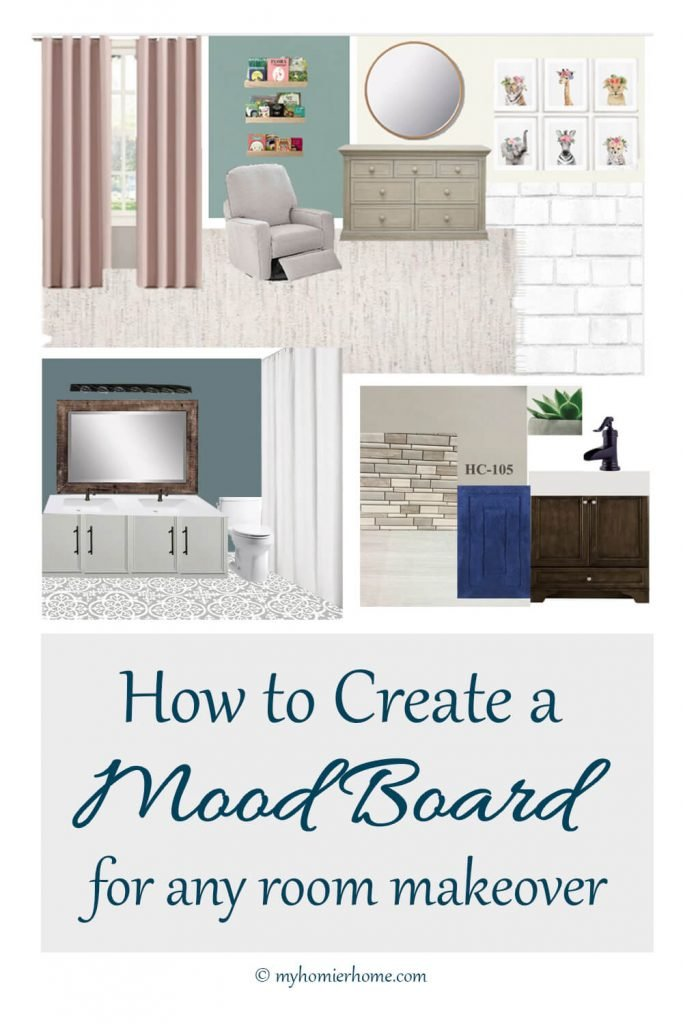 Want to make sure everything goes together for your room makeover? This tutorial will teach you how to create a mood board for any room makeover.