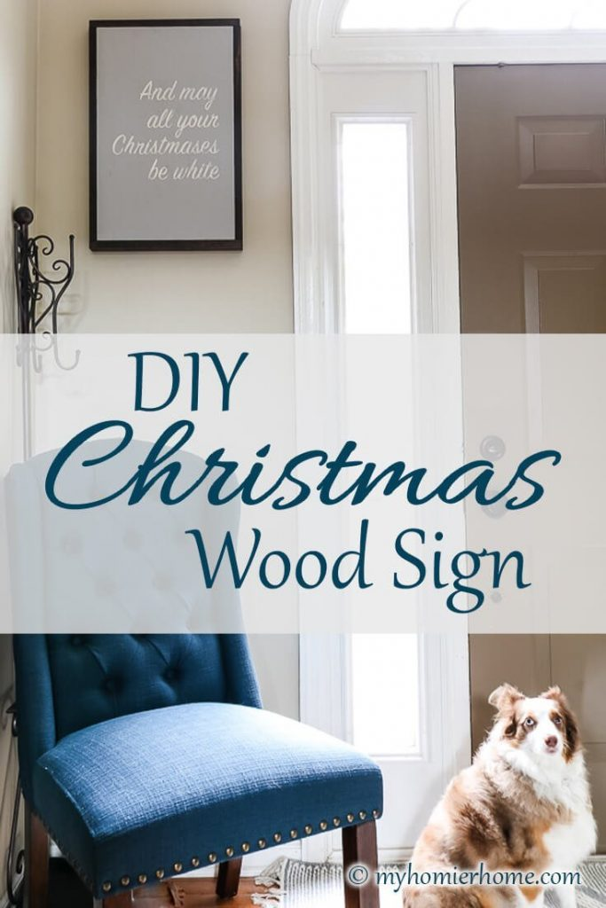 Kicking off the holidays in style with a DIY Christmas wood signs tutorial just for you.
