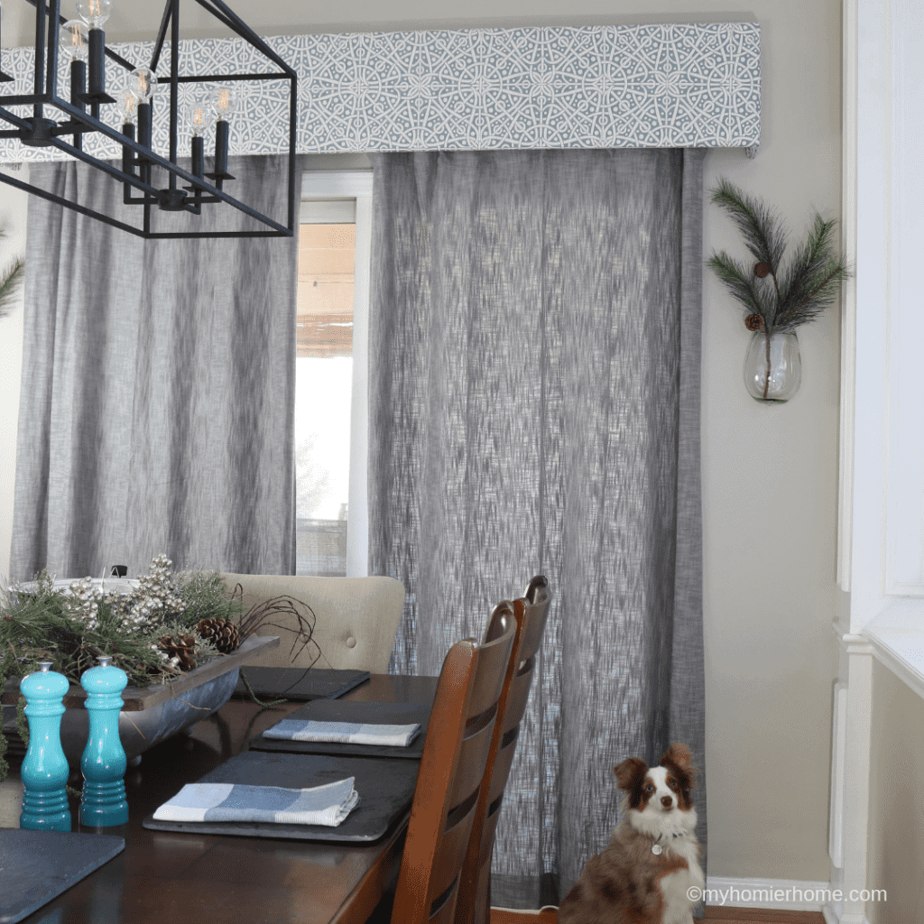 Two custom DIY cornice boxes for $90? My DIY cornice box tutorial is ready! Not only did I get to pick my own fabric, but I saved myself $1310!