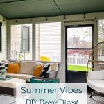 green, gold, and gray screen porch
