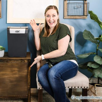 A DIY End Table Tutorial to Hide the Shredder