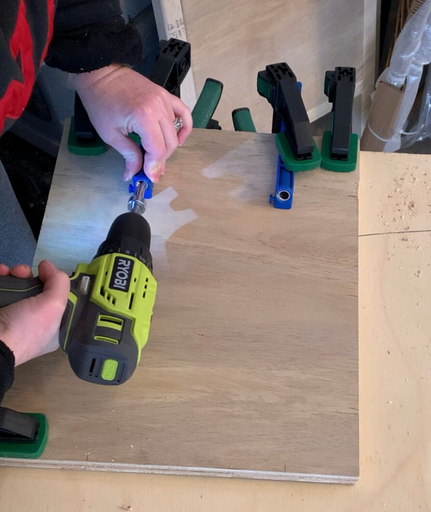 DIY end table pocket holes
