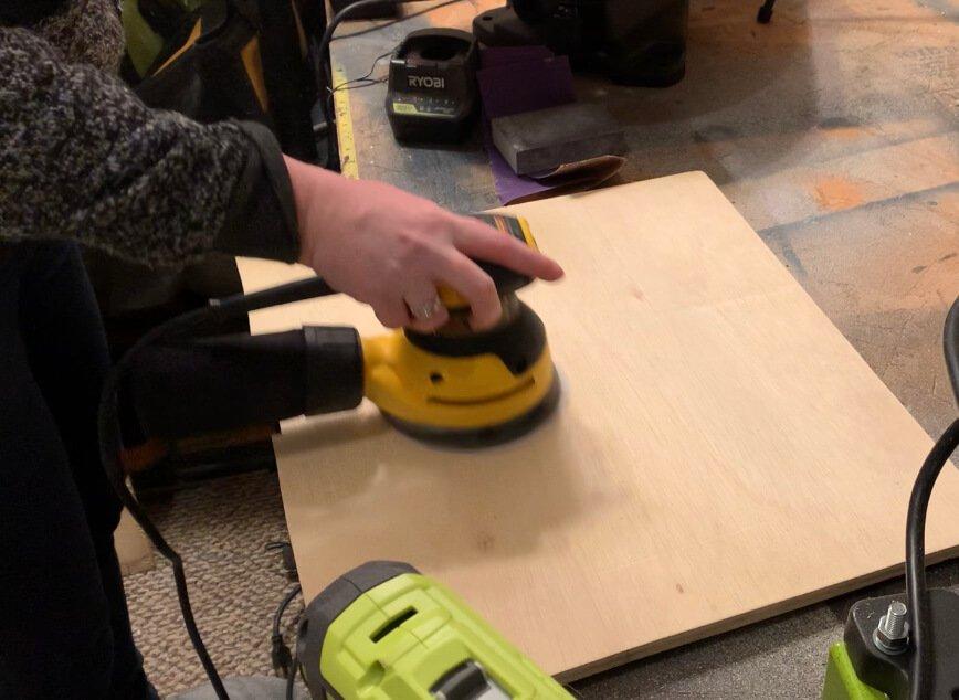 DIY end table sand