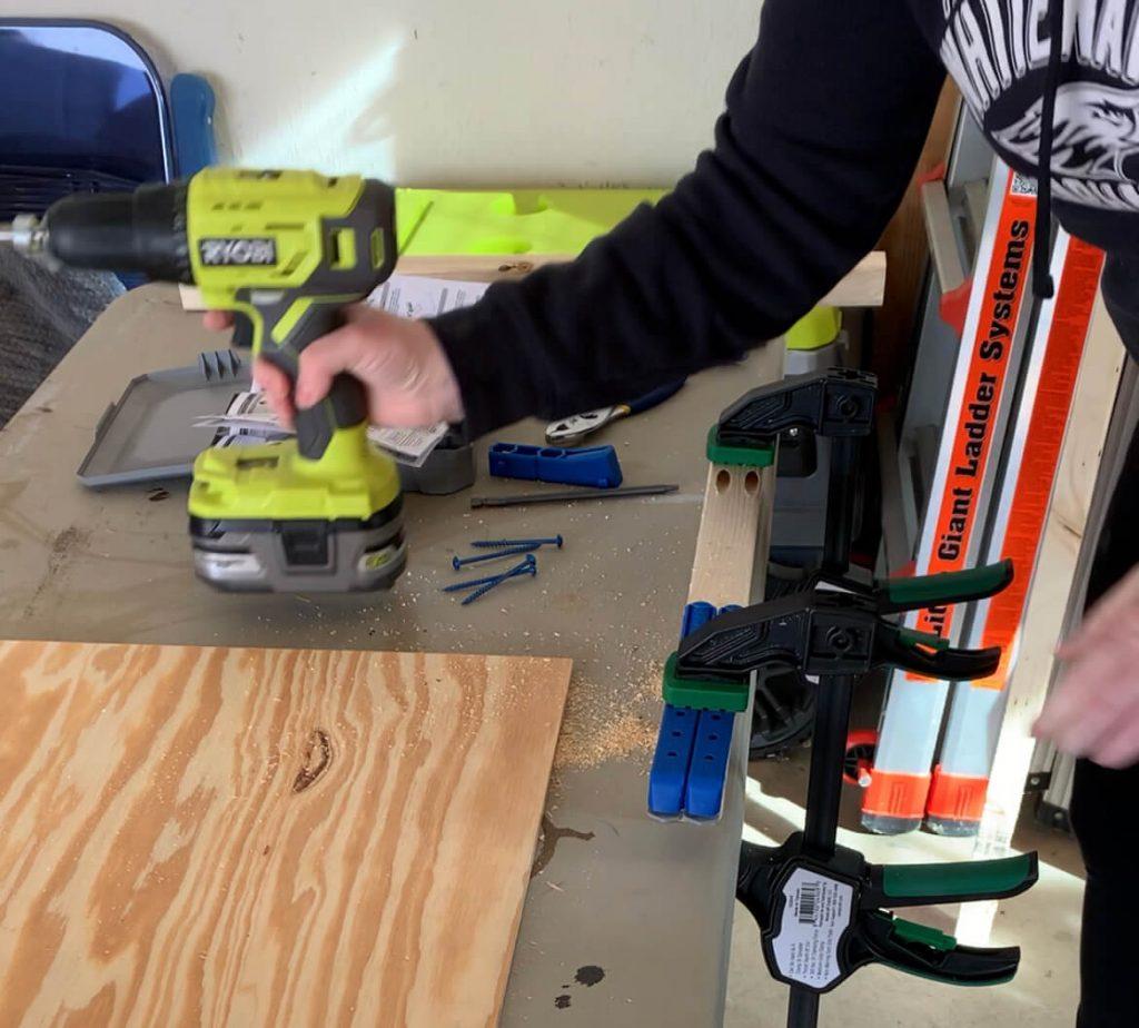 DIY end table pocket holes 2x2