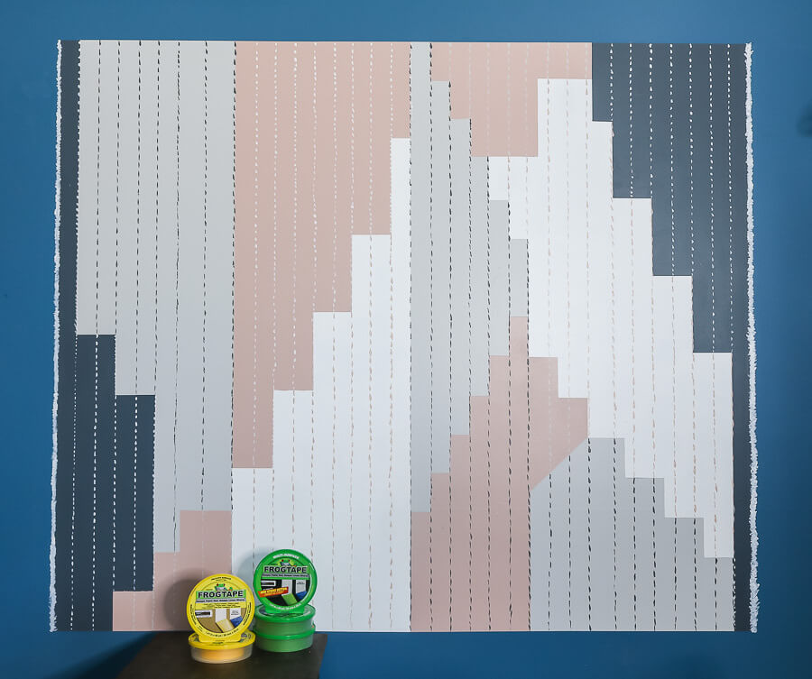 DIY Home Office Accent Wall final reveal