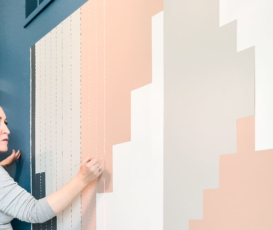 DIY Home Office Accent Wall adding texture