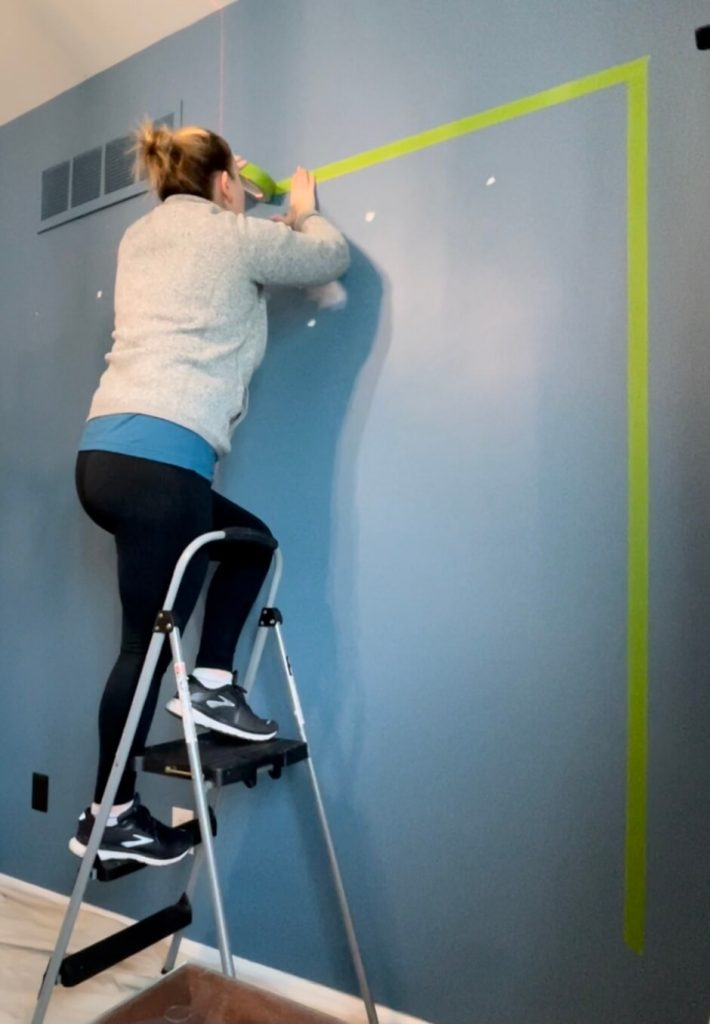 DIY Home Office Accent Wall partial frame