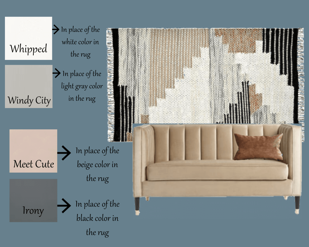 DIY Home Office Accent Wall inspiration board