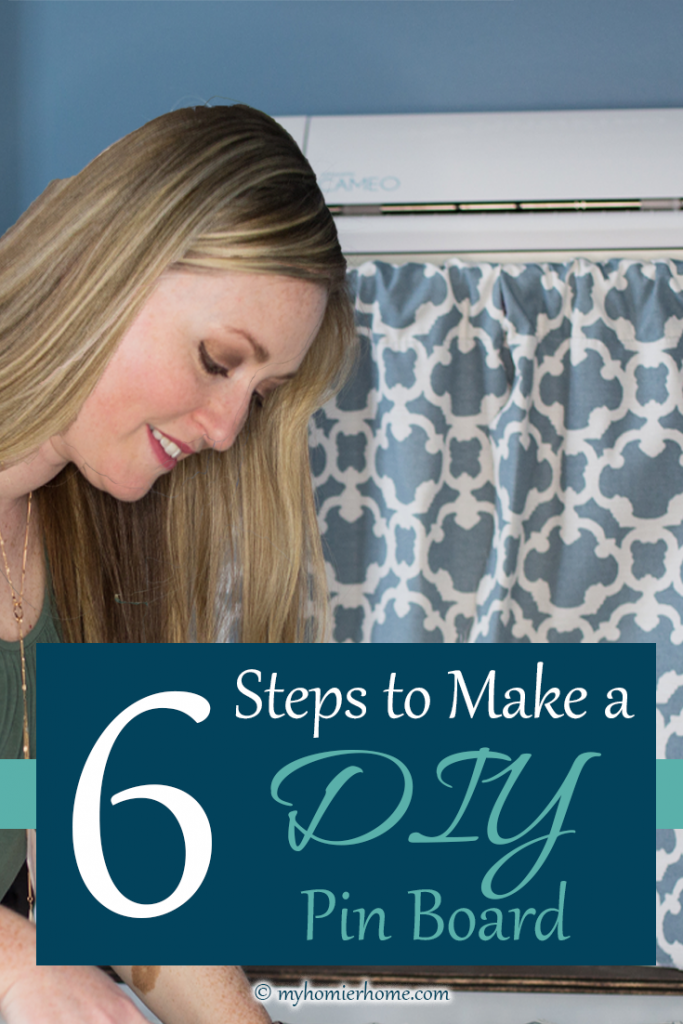 Got an old cardboard-colored pinboard? Repurpose it by following these 6 steps to fit any decor! Check it out!