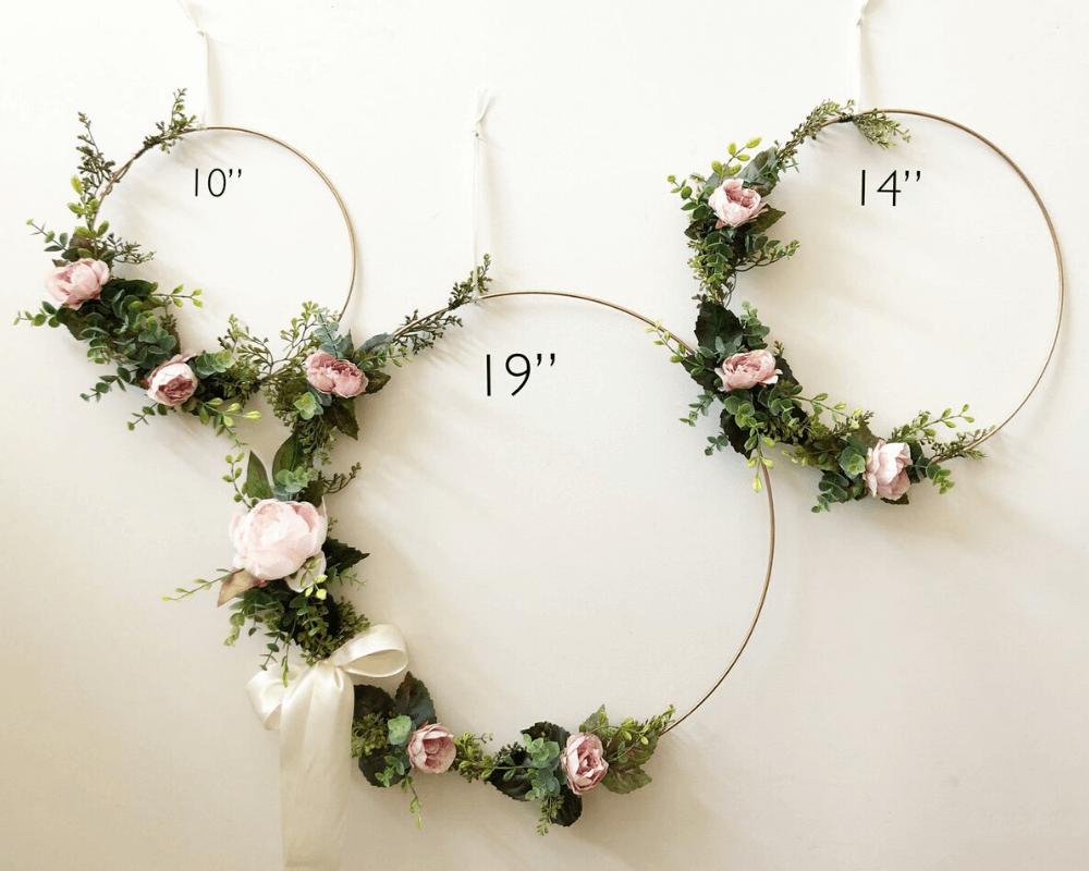 Girl Nursery Decor - Floral Wreath-1