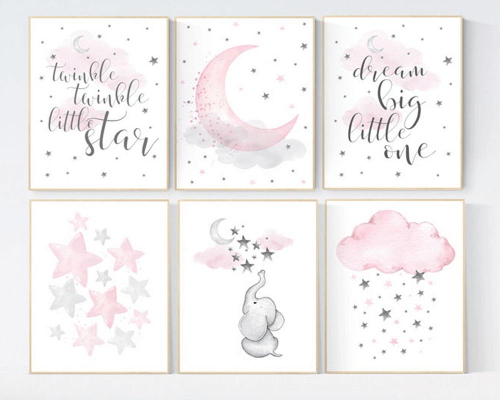 Girl Nursery Decor - More Elephant Prints