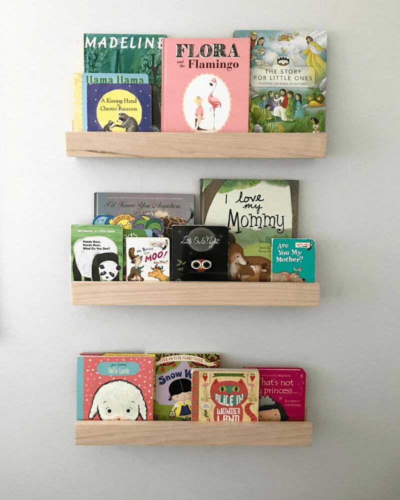 Girl Nursery Decor - Paintable Wood Shelves
