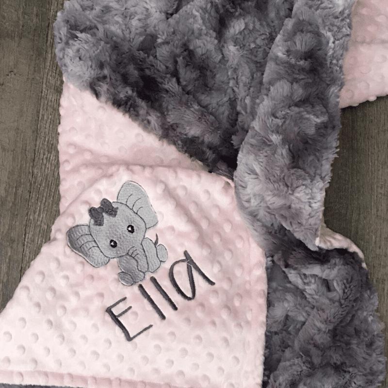 Girl Nursery Decor - Personalized Baby Blanket