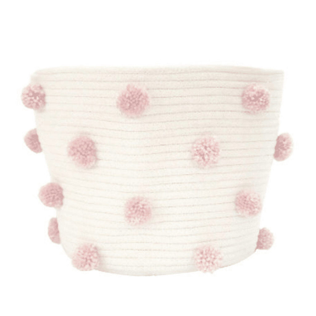 Girl Nursery Decor - Pom Pom Basket