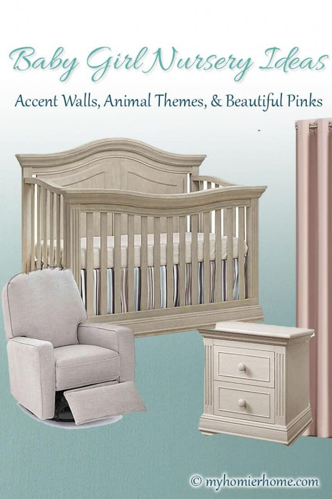 Looking for inspiration for your baby girl's nursery? I've been scouring the internet for all the baby girl nursery ideas to share with you. Check it out what I landed on to inspire my baby girl's nursery! #babygirlnursery #nurseryinspiration #girlnurseryideas #nurseryideas