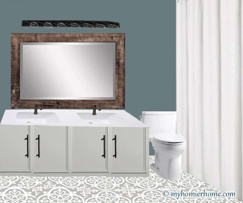 Guest Bathroom Mood Board + Befores [$100 Room Challenge]