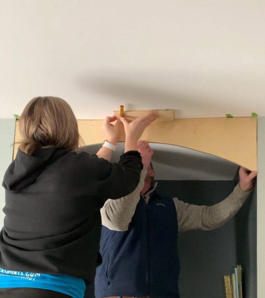 slide the pencil and wood across the ceiling to figure out the pitch to hid the unlevel ceiling