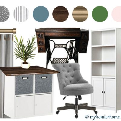 Home Office Meets Craft Room: The Plan & Before Photos