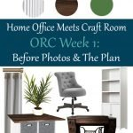 It's time for the Spring One Room Challenge! I'm tackling the Home Office Meets Craft Room project in my home. Check out my plan and before photos!