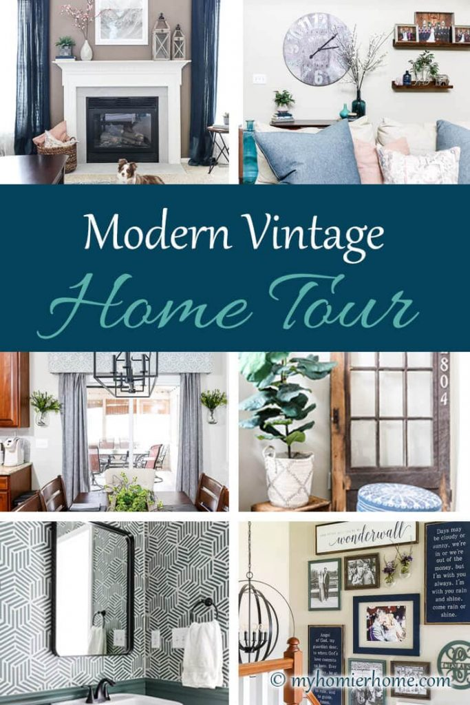 If you love a mix of modern and vintage, this is the home tour for you! Come on in!