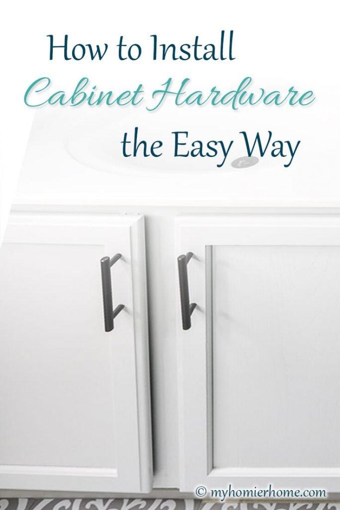 Bathroom vanity with cabinet pulls