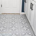 how to install peel and stick floor tile after photo