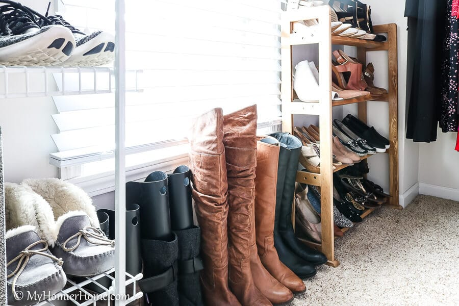 Use boot inserts to prop your boots upright.