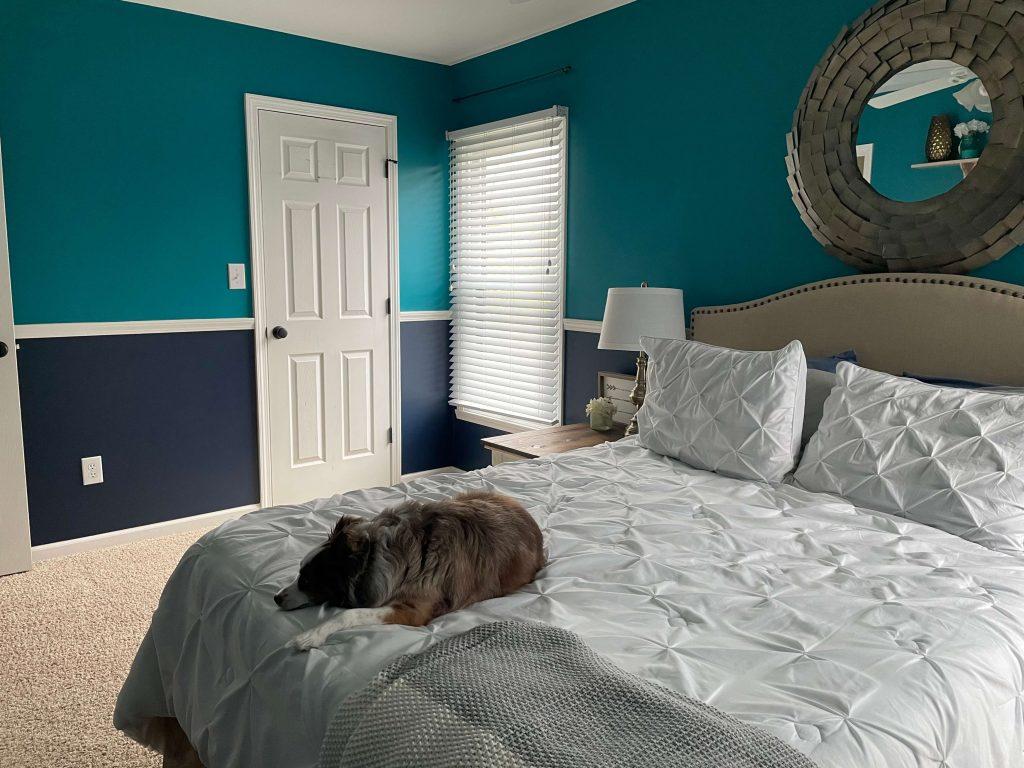 Modern Vintage Bedroom Before 1