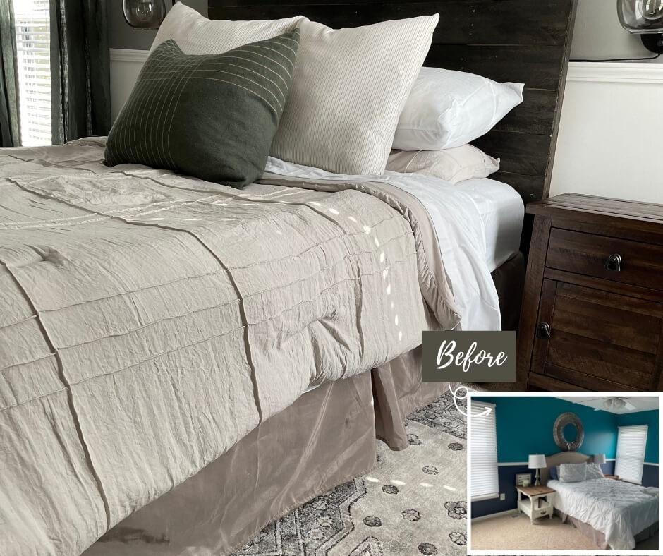 Modern Vintage Bedroom Reveal - Before and After