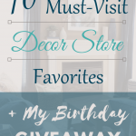 My 10 Must-Visit Decor Store Favorites: Target, West Elm, Pottery Barn, Home Goods, Arhaus