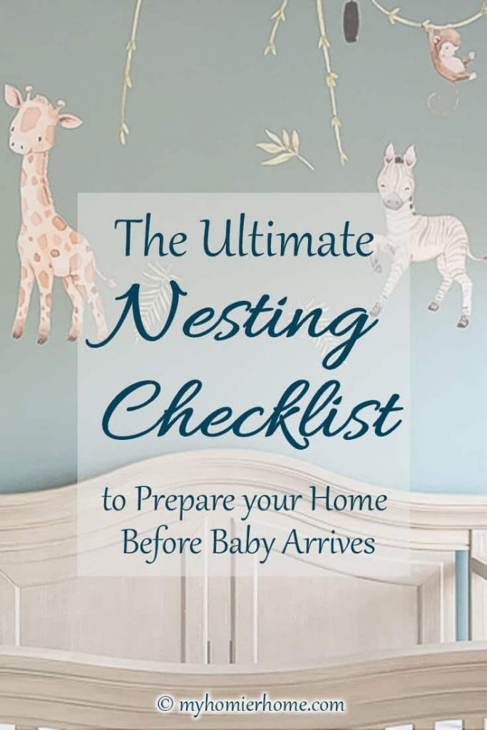 Looking to follow a focused list for your pre-baby nesting stage? We gotchu! There's nothing better than crossing things off the to-do list, so let's get to it!