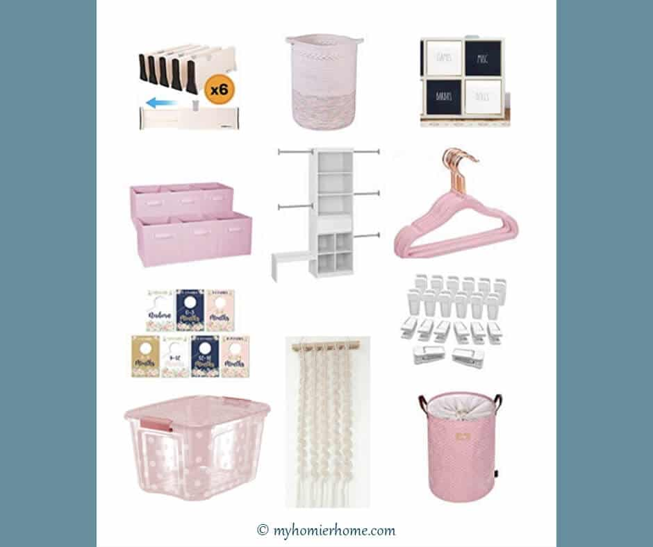 When your baby arrives you'll want to have some semblance of organization for your nursery closet. Here are my 9 must-haves to get it right.