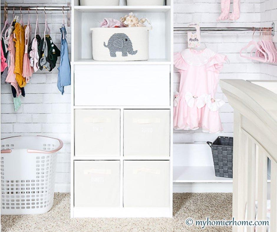 Baby Girl Nursery Closet Reveal
