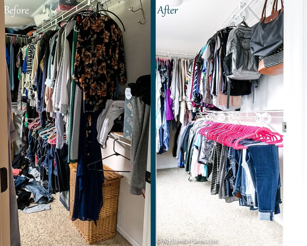 Organize Master Closet - Before & After 2