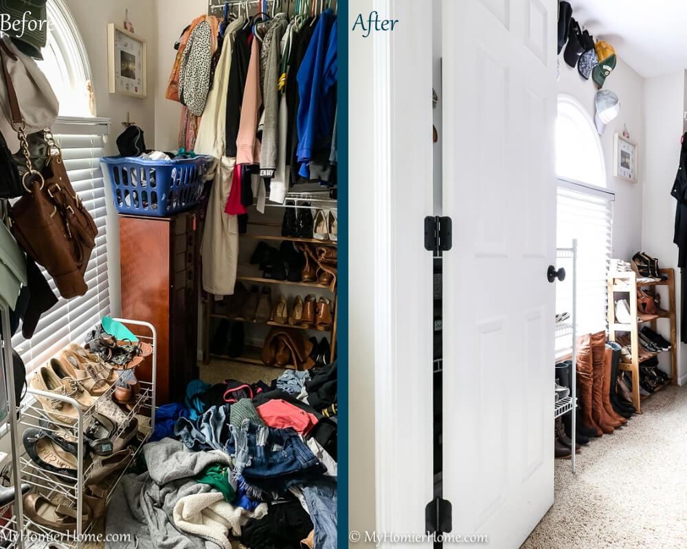 Organize Master Closet - Before & After 3