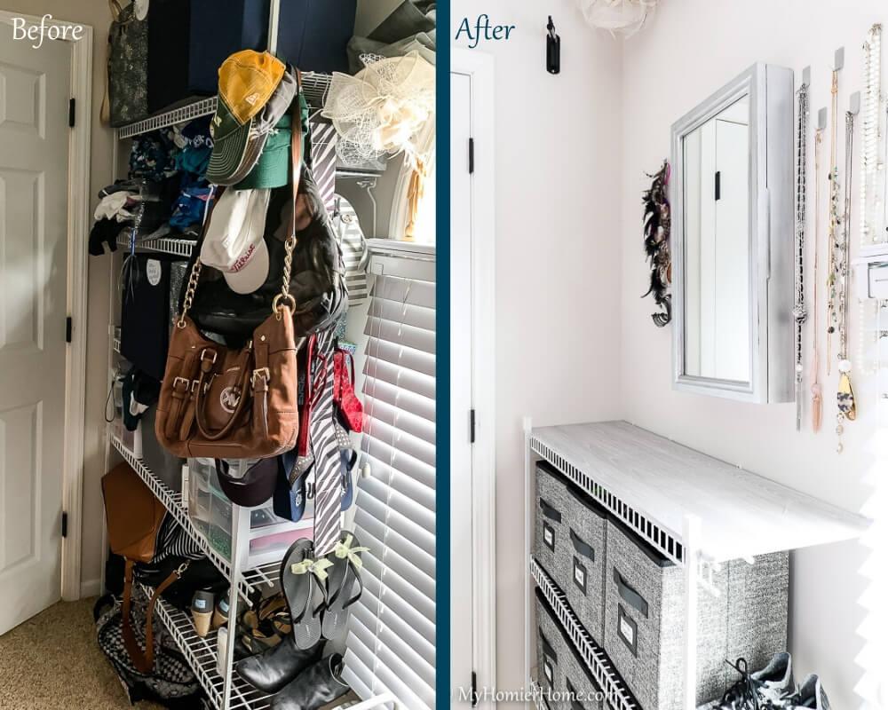 Organize Master Closet - Before & After 5
