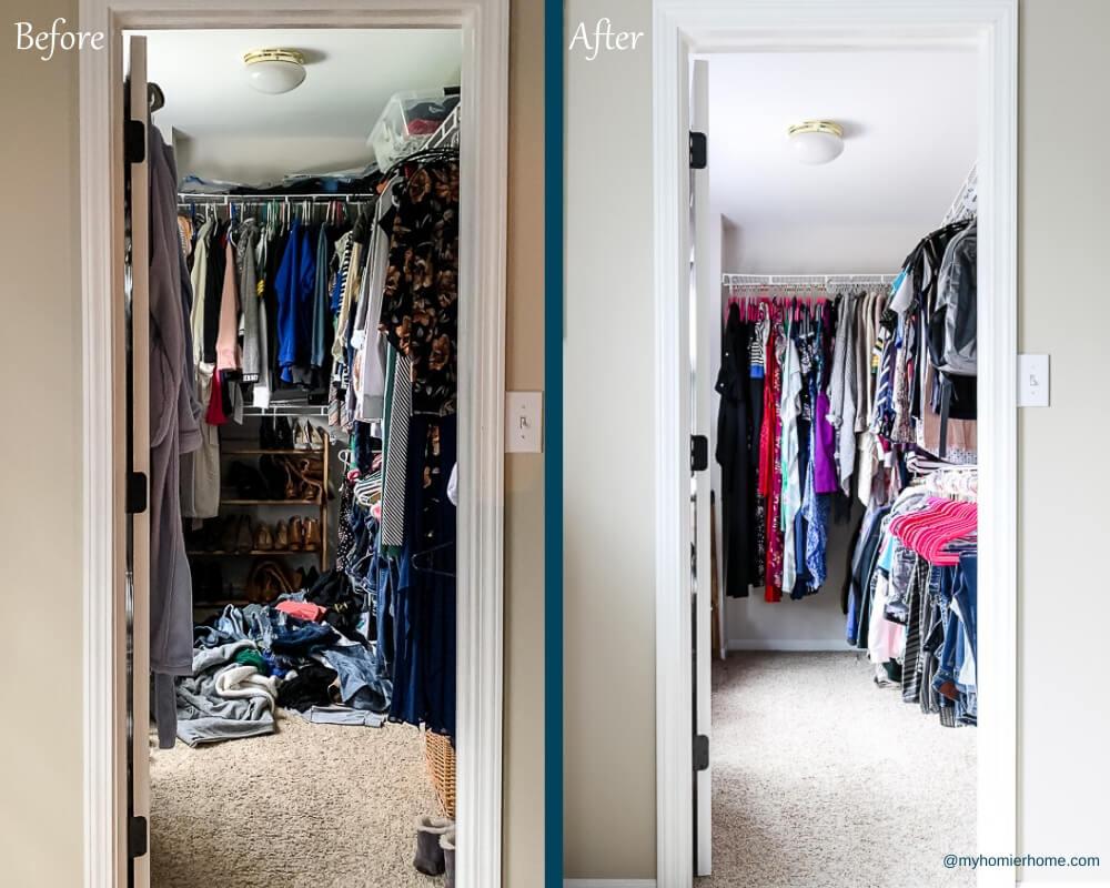 Organize Master Closet - Before & After 1