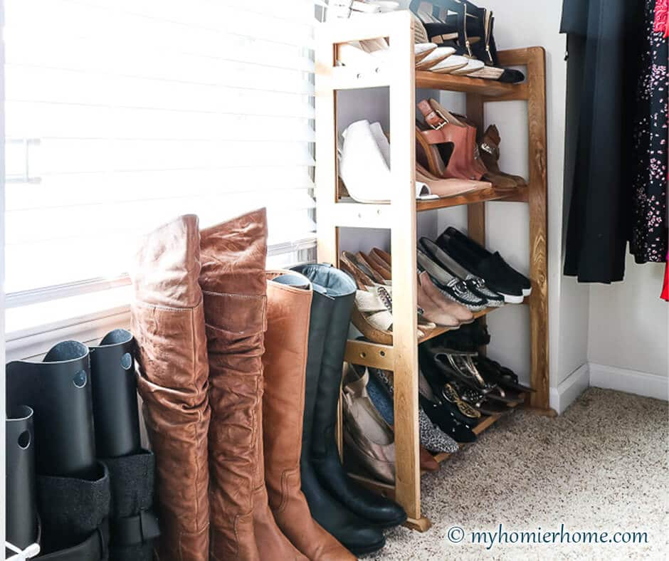 Part 2 of tackling the master closet is to organize that master closet. In part 1 we decluttered and purged, now it's time to put it back together! Check out the amazing transformation with my before and after shots, too!