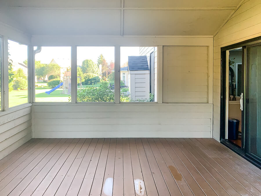 Outdoor Living Room Ideas before photo of screen porch