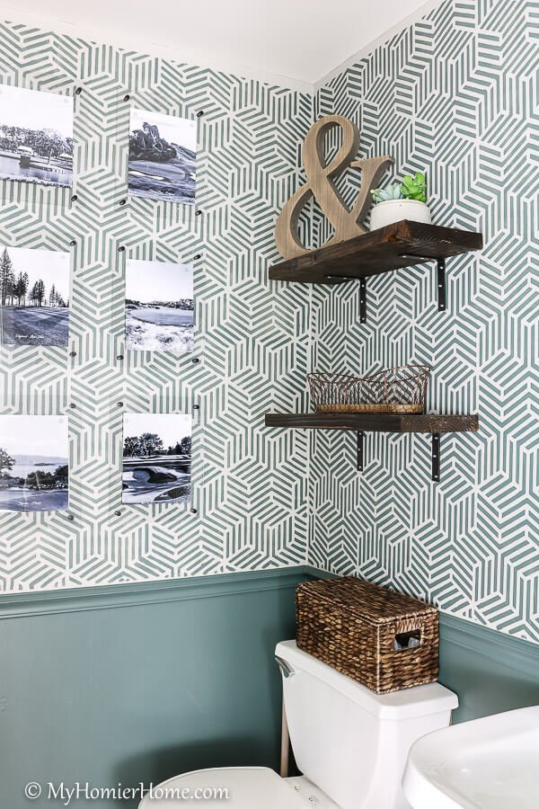 DIY Acrylic frames to personalize this space.