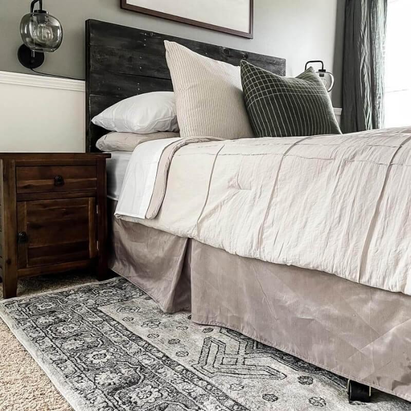 Rug Placement in Bedroom - Guest Bedroom