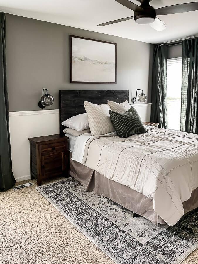 Rug Placement in Bedroom in Guest bedroom