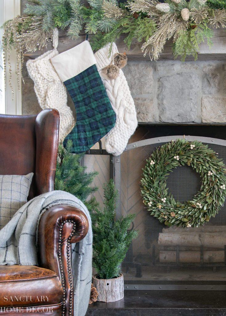 Sanctuary Home Decor - Christmas Color Schemes Blue and Green